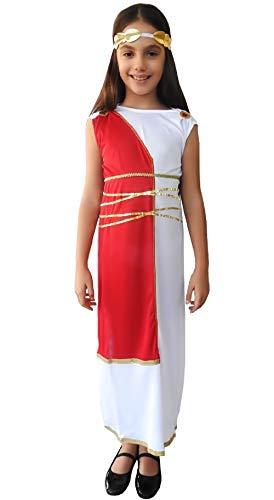 Inception pro infinite ( taglia s ) costume antica romana - bianco - travestimento - bambina - 4 - 5 anni - dea greca - halloween - carnevale - feste