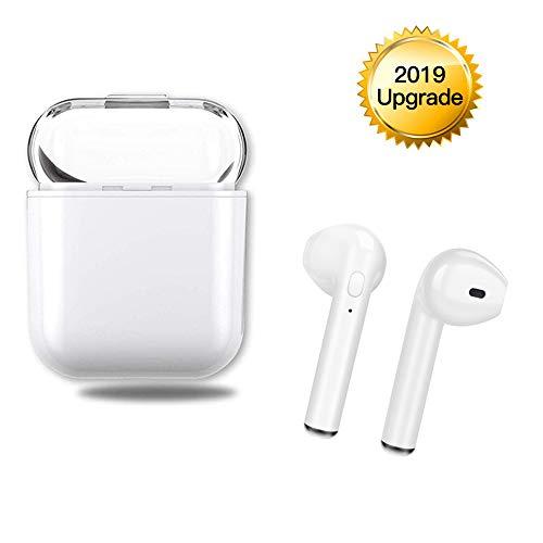 chte drahtlose Bluetooth 5.0 Kopfhörer,kabellose In-Ear Ohrhörer Stereo Mini Bluetooth Headset mit Mikrofon IPX5 Anti Sweat Sportohrhörer,Kopfhörer kompatibel mit IOS,Android Smartphone,Tablet usw.
