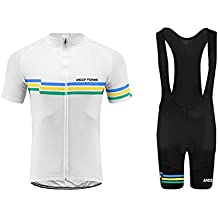 Uglyfrog Bike Wear- Mens Ciclismo Jersey Team Ciclismo Ropa Jersey Bib Shorts Kit Camisa de