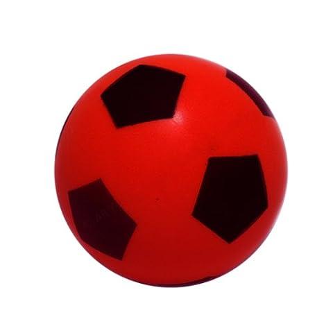 E Deals de football, en mousse, 20cm (Taille 5) couleurs assorties, Rot, 20 cm
