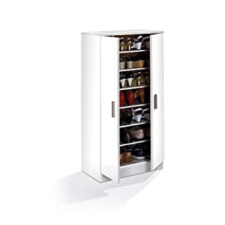 Furniturefactor Alfy Armoire à Chaussures Blanc