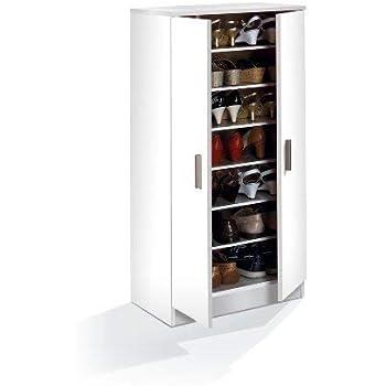 0e774806e1634 Demeyere 306598 Armoire à Chaussures 2 Portes Blanc: Amazon.fr ...