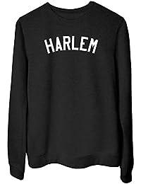 T-Shirtshock Sudadera para Las Mujeras Negro FUN4264 Harlem