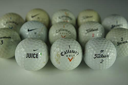 Kirbee - Club des Marques - Lot de 100 balles de Grandes Marques - Balle d'occasion qualité : jouables - Lavées après récupération - Recyclées et Non-refinished (Jouables, 100)