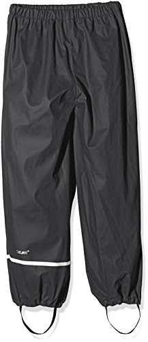 Celavi Kinder Unisex Regen-Latzhose,schwarz, 130 cm (8 Jahre)
