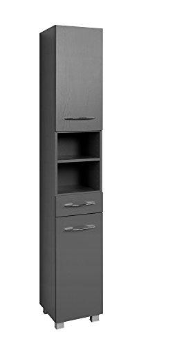 Held Möbel 082.1.2155 Seitenschrank 30, Holzwerkstoff, anthrazit, 35 x 30 x 185 cm