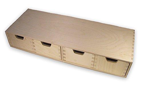 stabiles schubladen regal wandregal mit 4 schubladen holz unbehandelt smash. Black Bedroom Furniture Sets. Home Design Ideas