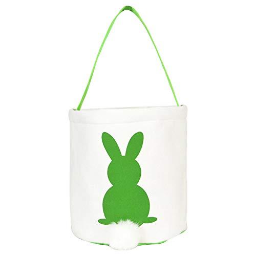 koiry Tasche Handtasche Kaninchen Bunny Ostern Süßigkeiten Snack Korb Cookies Tasche Kinder Geschenk (Stapeln Der Körbe)
