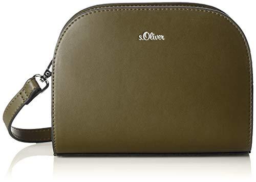 s.Oliver (Bags Damen 39.903.94.4006 Umhängetasche, Grün (Olive), 4x16x20 cm