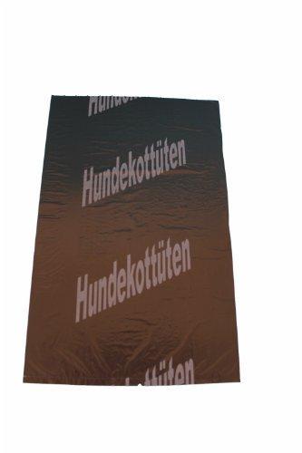 "300 Hundekotbeutel Hundetüten Gassibeutel Farbe Schwarz Bedruckt Weiß - Motiv: ""Hundekottüten"" Abreissbar 25 X 31 Cm"