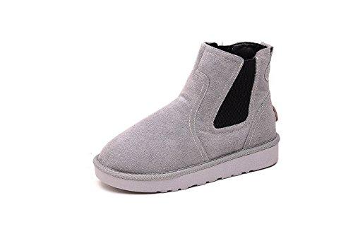 Inverno uomini e donne scarpe basse scarponi da neve più spessa di velluto scarpe di cotone gray