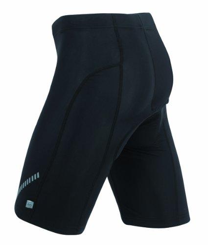 Bike-shorts-leggings (James & Nicholson Unisex Sport Legging Short Tights Bike schwarz (black) X-Large)
