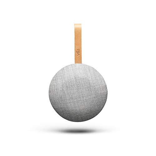Vifa Reykjavik- WiFi & Bluetooth Lautsprecher | Tragbare, kabellose Musikbox | Skandinavisches Design - Sandsteingrau