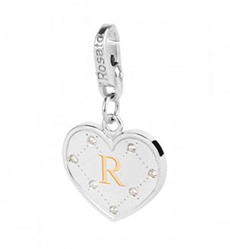 Rosato charm cuore iniziale lettera R AL018