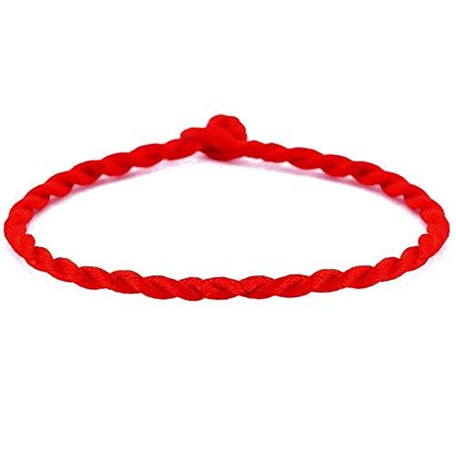 2add36b669fb Nikgic Pulsera de Cuerda de la Suerte Hecha a Mano para Hombres y Mujeres
