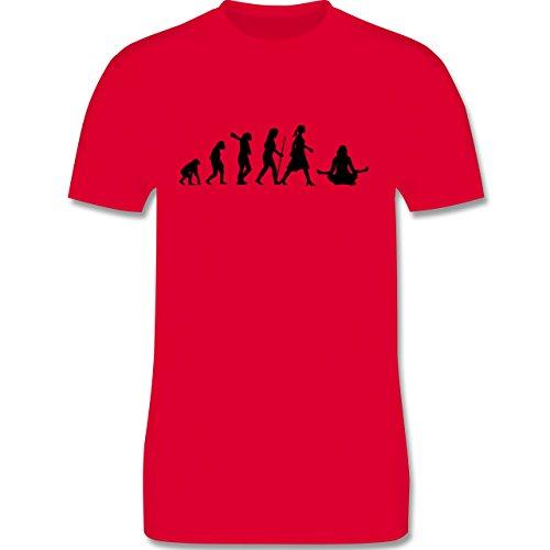 Evolution - Meditation Evolution - Herren Premium T-Shirt Rot
