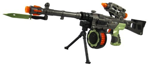 "Price comparison product image 28"" Gangster Tommy Machine Gun Toy with Lights & Sound"