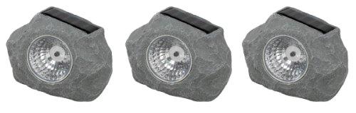 Stellar 1075-3 Solarleuchte Stein 3er Set