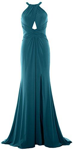 MACloth - Robe - Dos nu - Sans Manche - Femme bleu sarcelle