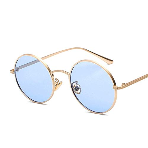YHEGV Vintage Männer Runde Sonnenbrille Frauen Retro Punk Style Metallrahmen Brillen Für Harry Potter Sonnenbrille Trendy Eyewear