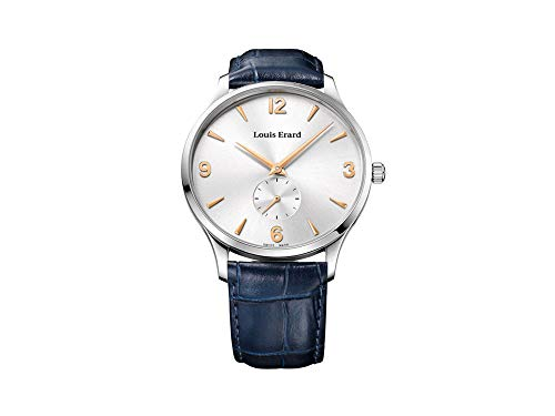 Louis Erard 1931 Automatic Watch, Silver, Blue Leather Strap, 47217AA11.BDC84