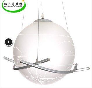 BGmdjcf Arte Ferro Palla Di Vetro 3 A Sfera Esagonali Lampadari Di Po , Bianco Caldo , 25 Cm Di Diametro - Nessuna Sorgente Di Luce