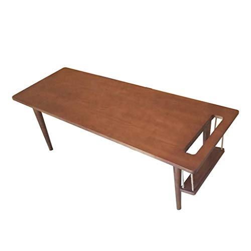 Tables basses Table en Bois Massif Table d'ordinateur Minimaliste Moderne Table de Stockage Table Multifonction (Color : Brown, Size : 120 * 50 * 40cm)