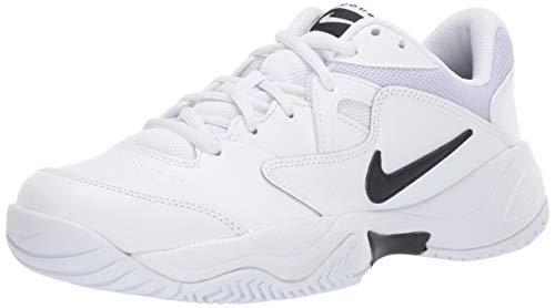 Nike Wmns Court Lite 2, Scarpe da Tennis Donna, Multicolore Black/White/Oxygen Purple 100, 37.5 EU