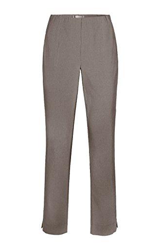 Stehmann - Stretchhose INA 740 - VIELE FARBEN - Mit EXTRA-Fashion Armreif -Gerade geschnittene Pull-On Hose mit Schlitz nougat light