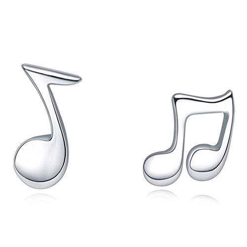 Unendlich U Musik Noten Ohrringe Ohrstecker Ohrhänger aus 925 Sterling Silber für Allerheiligen Weihnachten Valentinstag - Halloween-feier-musik