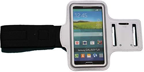 Sport Armband Schweißfest Schutztasche für BlackBerry Q10 Fitness Handyhülle Armtasche mit Kopfhöreranschluss, Laufen, Blank S Weiss 009 Blackberry