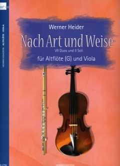 Nach Art und Weise - arrangiert für Altblockflöte - Viola [Noten / Sheetmusic] Komponist: HEIDER WERNER