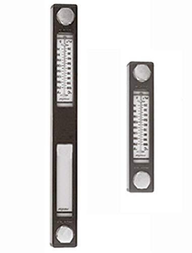 254mm Füllstandsanzeige mit Thermometer, Ölstandsanzeige Ölbehälter Hydraulik Füllstand öltank