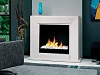 British Fire Fireplaces Quadro Suite bioethanol Fireplace BQUA5820BFP