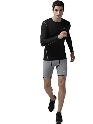 FITUP LIFE Full Sleeve Tshirt Polyester & Spandex Compression- Black {Size : XXL}