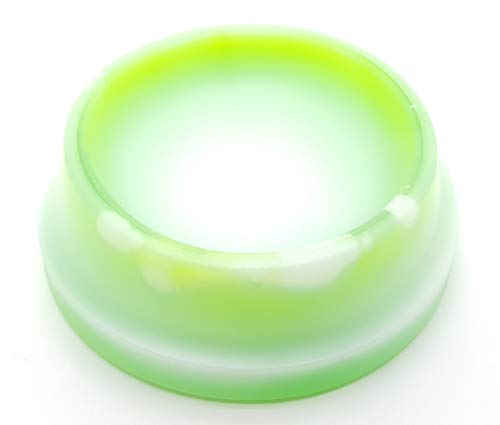 Jecob Ciotola Refrigerante Rinfrescante Acqua Fresca per Cani cm Ø21x7h Colore Verde