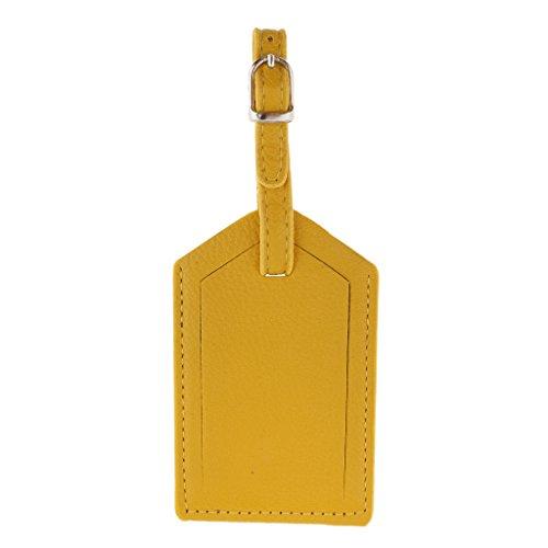 r Gepäckanhänger aus Leder Namensschilder Namensschild Koffer Reise Schild - gelb ()