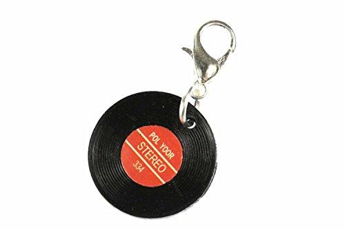 Miniblings Schallplatte LP Vinyl Charm Zipper Pull Anhänger Musik DJ Disko rot - Rot Vinyl Zipper