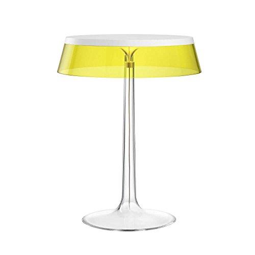 Flos Bon Jour Lampe de table avec structure blanche et abat-jour jaune 220 Volt