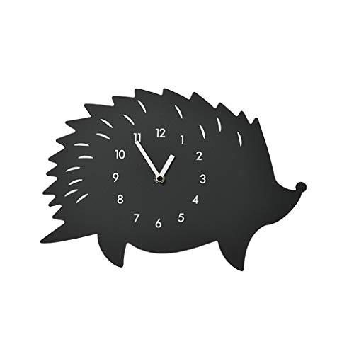 LYXPUZI Reloj de péndulo Animal Lindo - Reloj de Pared Estilo Erizo de Dibujos Animados