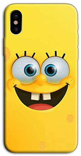 Mixroom - cover custodia case in tpu silicone morbida per iphone xr v321 spongebob