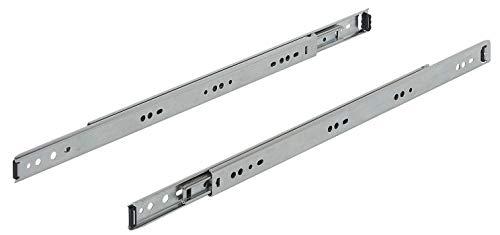 Gedotec Kugelführung Metall Schubladen-Schiene Vollauszug Teleskopschiene ACCURIDE 2601 für Küchen-Schrank | Länge 400 mm | Tragkraft bis 35 kg | Stahl verzinkt | 1 Paar - Auszüge für Holz-Schubkästen -