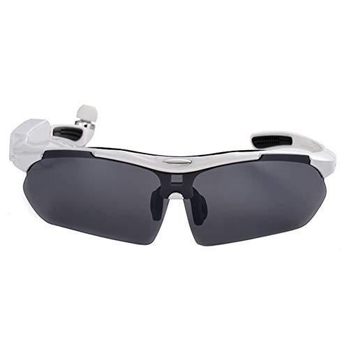 LFF SPORT Intelligente Brille Drahtlose Bluetooth Kopfhörer Sonnenbrille Stereo Musik Freisprech Sportbrillen für Bluetooth-Gerätetelefon + Gratis Austauschbare 4 Paar Objektiv,C