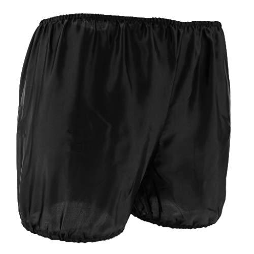 Fenteer Frauen Spitze Hose Unter Rock Kurz Leggings Schlafanzughose Shorts Schlüpfer Unterrock Hipster Unterhose mit elastisch Taillen - Schwarz, M Bloomers Boyshort