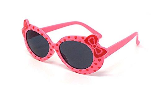 Rosa Children's Kids Girls stylish cute Designer-Stil Sonnenbrillen High Quality mit Bow and Heart Style UV400 Sonnenbrille Shades UVA UV-a-Schutz