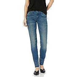 G-STAR RAW Lynn Mid Waist Skinny Jeans, Bleu (Medium Aged 6550-071), 24W / 30L Femme