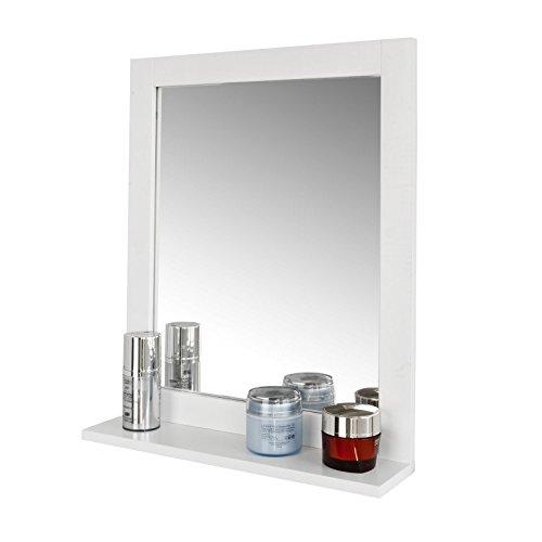 SoBuy® Mueble de pared con espejo, 2 en 1 Espejo y Estante de baño, L40xP10xH49cm, FRG129-W, ES