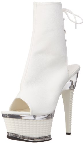 Pleaser Illusion 1018, Stivali Donna Bianco (White Pu)