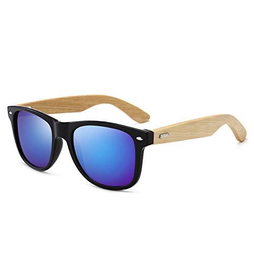 WAQWYQ Gläser Holz Sonnenbrillen Männer Frauen Vintage Sonnenbrillen Weiblichen Spiegel Sonnenbrille Eyewear