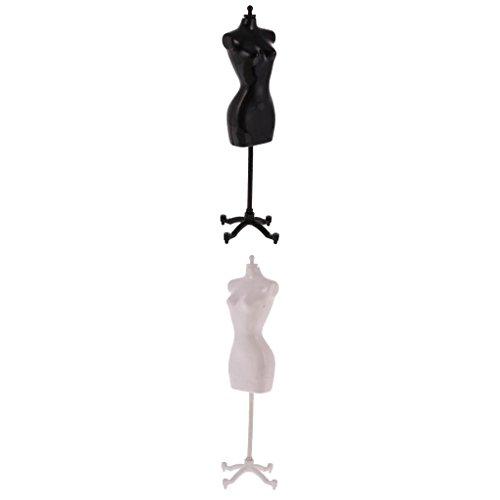 MagiDeal 2 Pezzi di Supporto del Modello di Manichino Vestito Abit Display Titolare Porta per Barbie Bambole Accessori